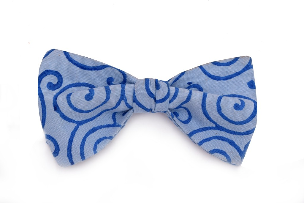 Blue Hypnotic Bow