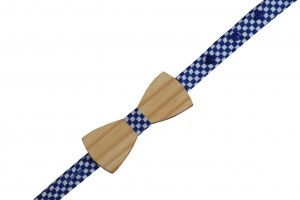 LAKDIWALA BLUE CHECKS BOW